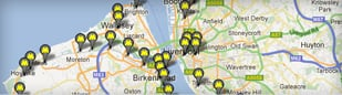 Cropped shot of Merseyrail Network Map