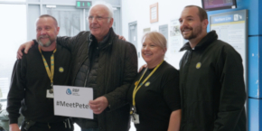 Pete Waterman With Merseyrail Staff 290