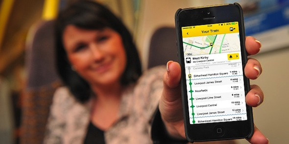 Merseyrail -App Landing Page Banner