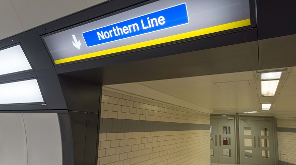Moorfields Northern Line Sign
